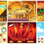 Les décors de 6 des 7 jeux réalisés