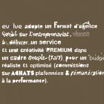 Recherche typographique (version non retenue).